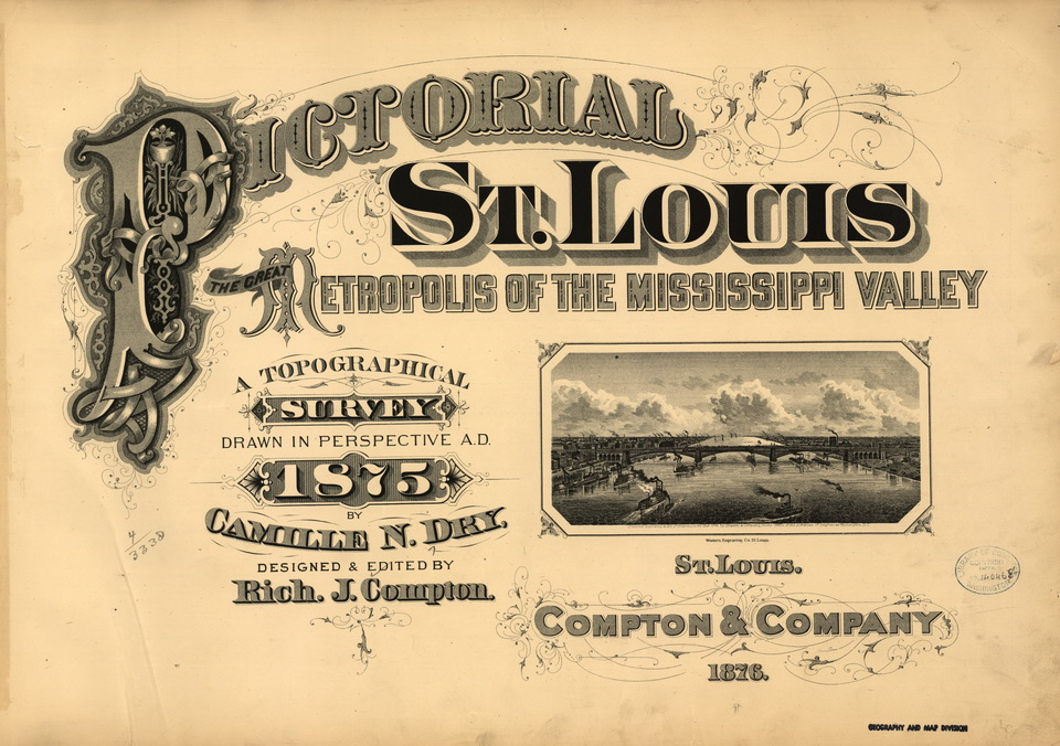 Pictorial St. Louis 1875 Cover Page