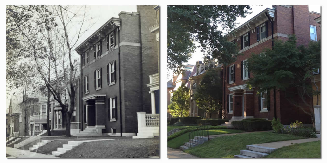 4446 Westminster Place - H.W. Eliot Home - Then & Now