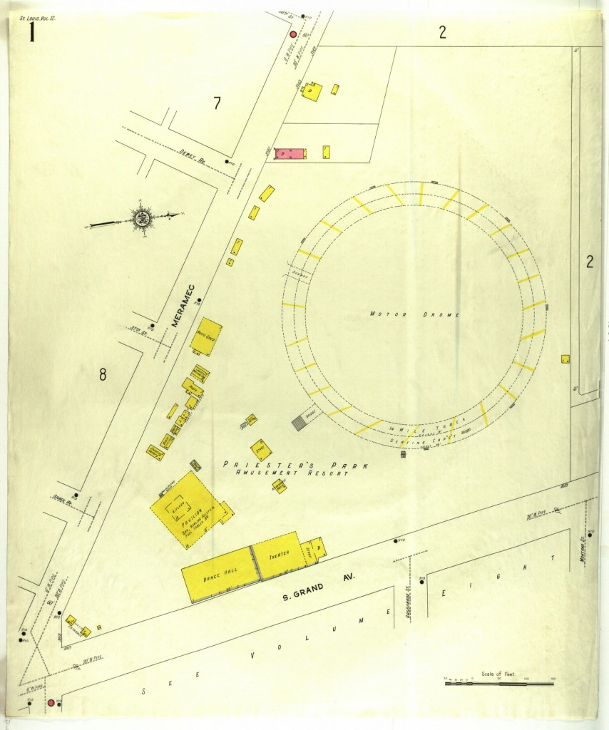 St. Louis Motordrome Map
