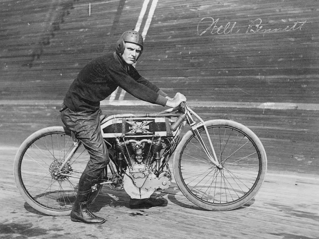 St. Louis Motordrome Racer Wells Bennett - Photograph by J.R. Eike, courtesy of Thomas Kempland