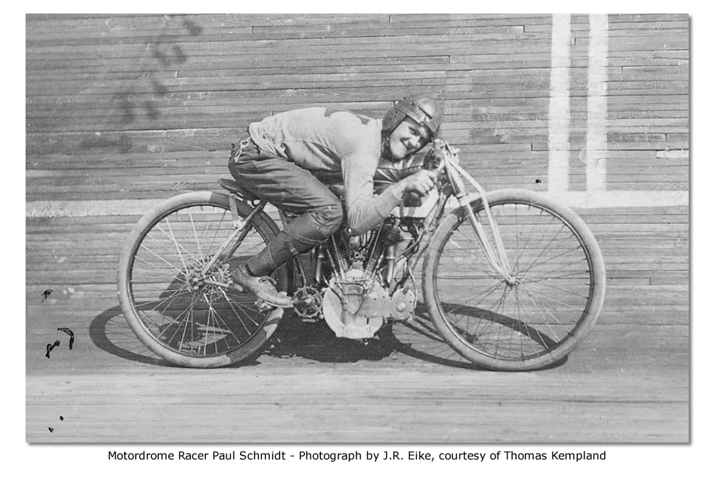 St. Louis Motordrome Racer Paul Schmidt