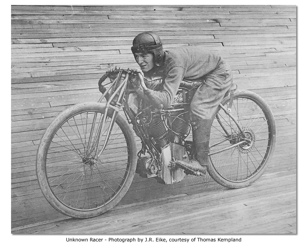 Unknown racer at St. Louis Motordrome