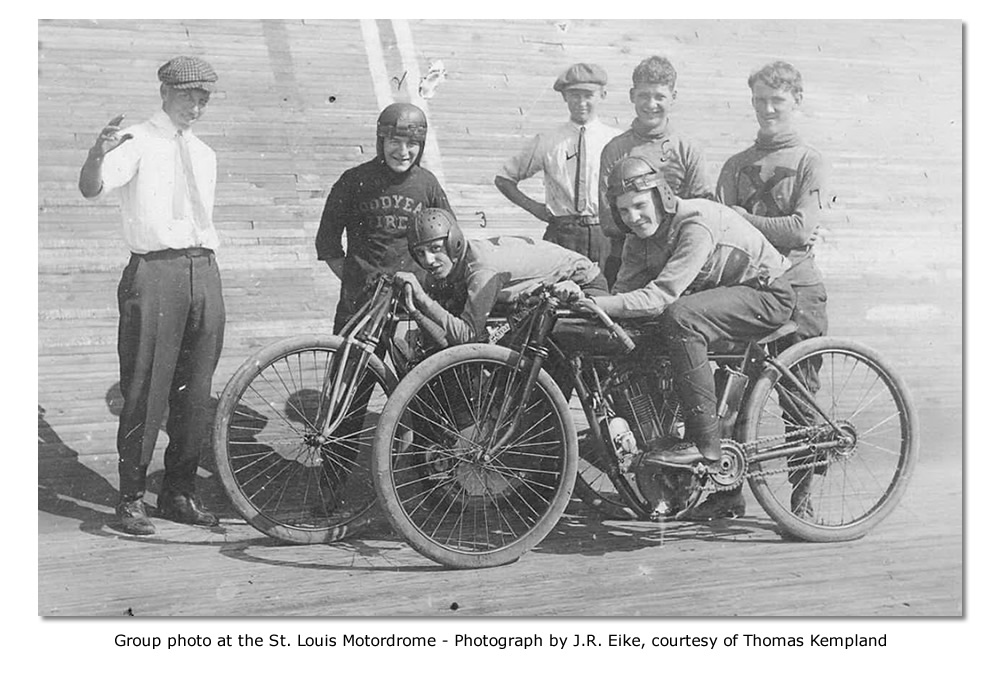 Group photo at St. Louis Motordrome