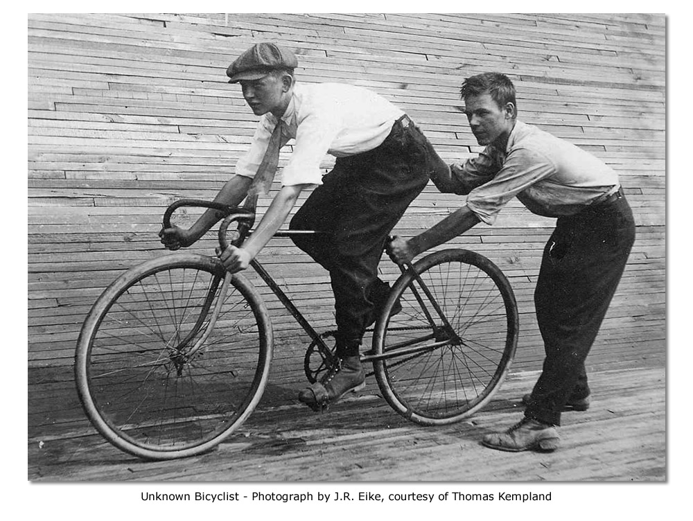 Unknown Bicyclist at St. Louis Motordrome