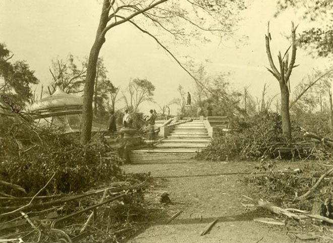 Lafayette Park after the tornado