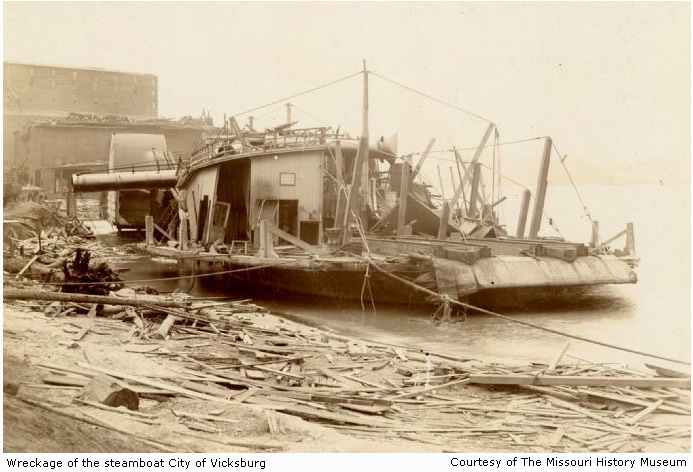 Wreckage of the steamboat City of Vicksburg