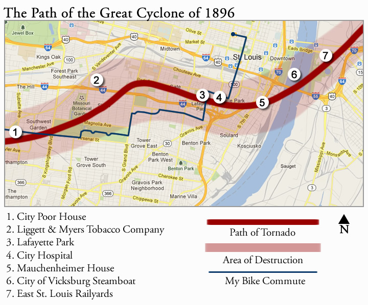 Path of the Great Cyclone of 1896