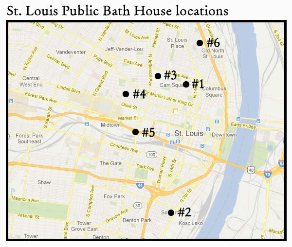 St. Louis Public Bath House Locations