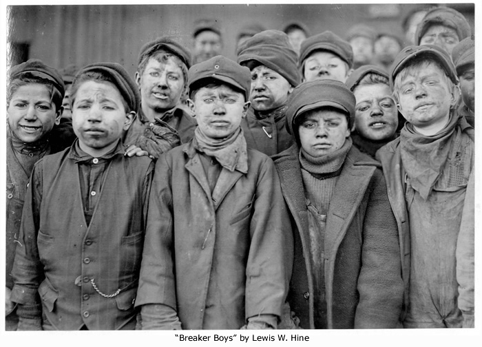 """Breaker Boys"" by Lewis Hine"