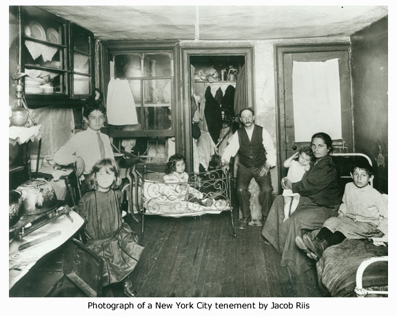 Photograph of a New York City tenement by Jacob Riis