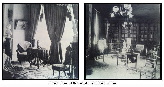 Interior rooms of the Langdon Mansion