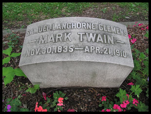 Mark Twain's Grave in Elmira