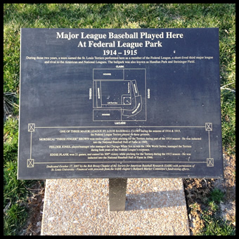 The Plaque at Federal League Park