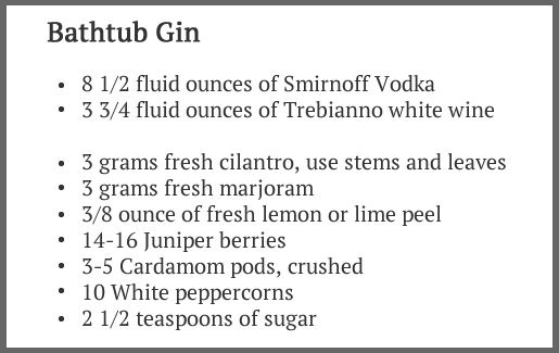 Bathtub Gin recipe