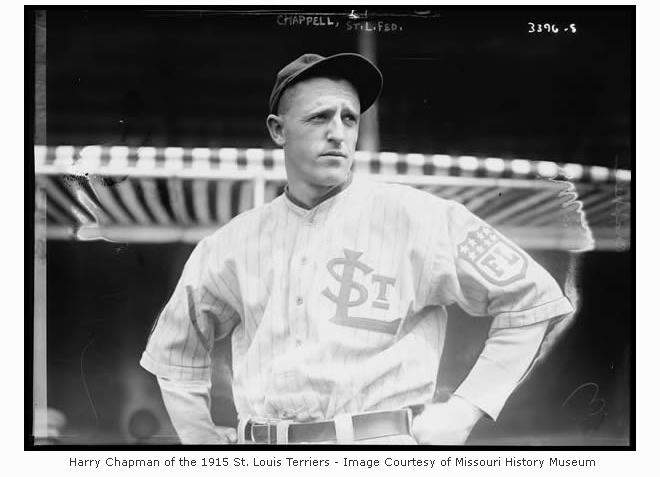 Harry Chapman of the 1915 St. Louis Terriers