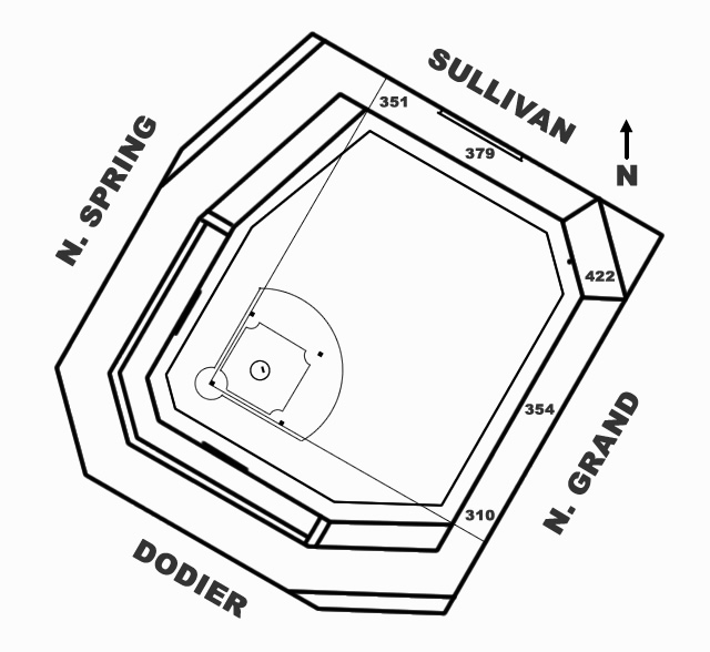 Sportsman's Park Diagram