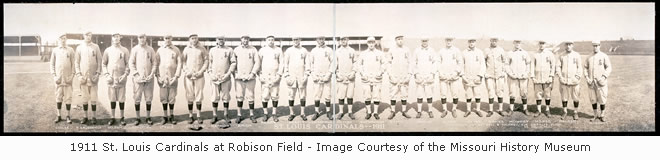 1911 St. Louis Cardinals at Robison Field