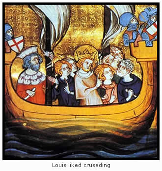 Louis IX on Crusade