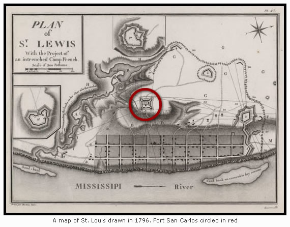 St. Louis in 1796