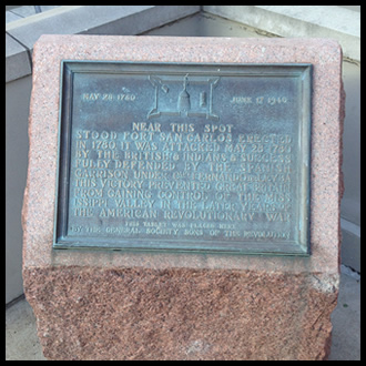 Plaque in front of the St. Louis Hilton