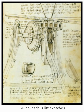 Brunelleschi's Lift Sketches