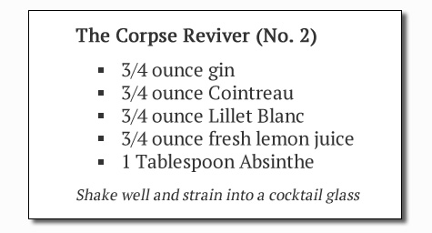 Corpse Reviver No. 2 Recipe