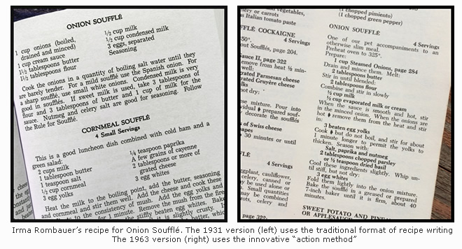 1931 vs 1964 Recipes