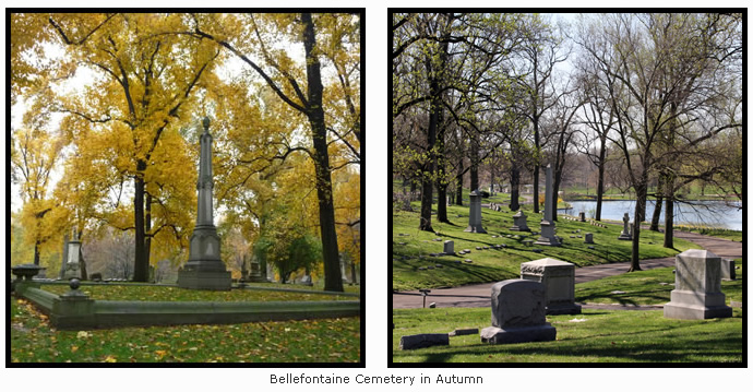 Bellefontaine Cemetery in Autumn