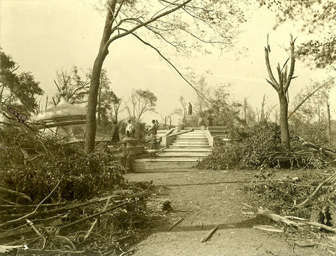 Aftermath of the 1896 Cyclone in Lafayette Square Park