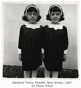 Identical Twins, Roselle, New Jersey, 1967 by Diane Arbus