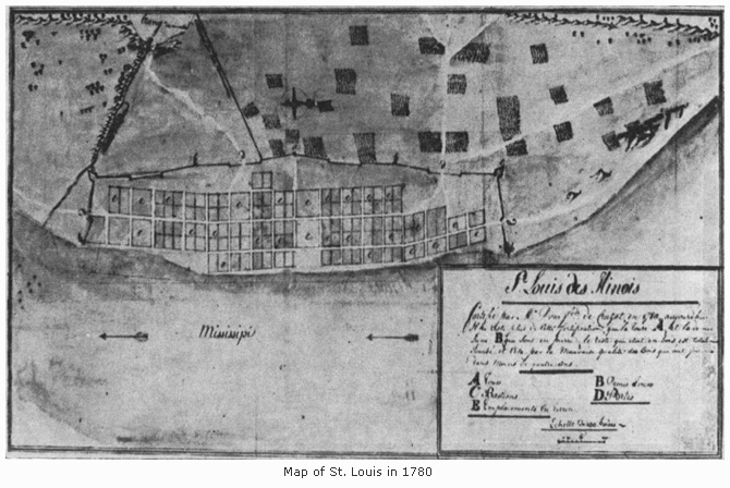 Map of St. Louis in 1780