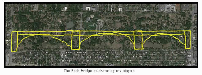 Bike-a-Sketch: Eads Bridge