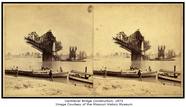 Cantilver Bridge Construction, 1873