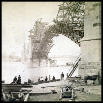 Eads Bridge Construction