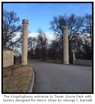 Kingshighway Entrance to Tower Grove Park