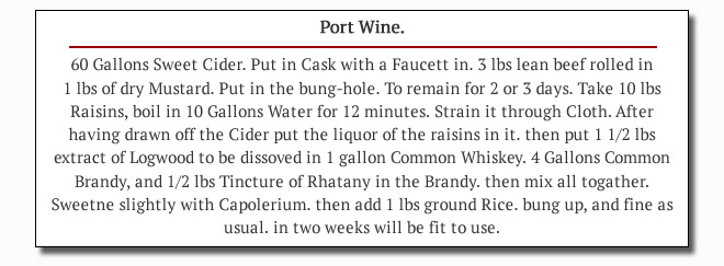 Mersman's Port Wine Recipe