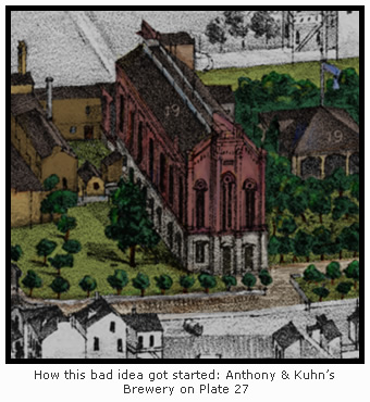 Anthony & Kuhn's Brewery on Plate 27
