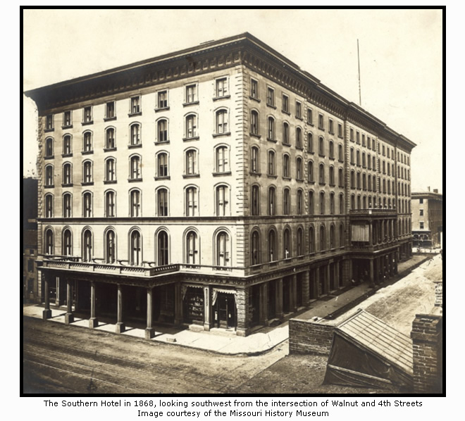 The Southern Hotel in 1868