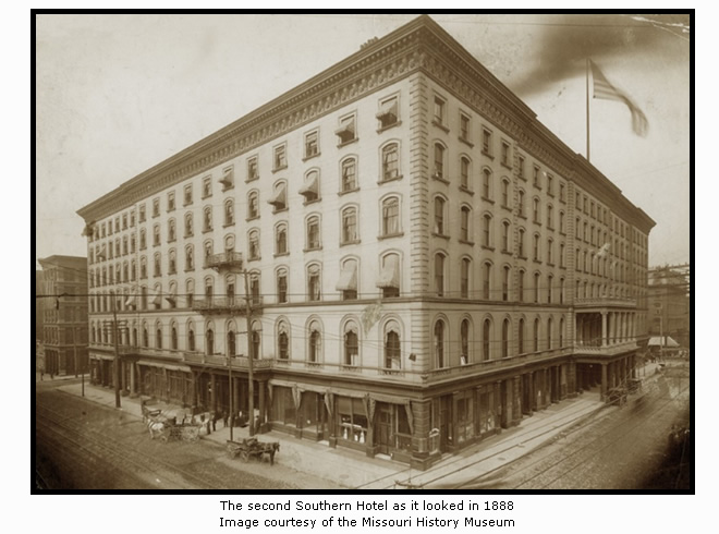 The Southern Hotel in 1888