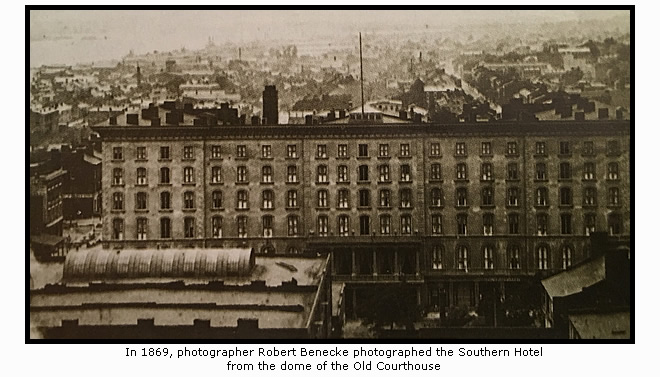 The Southern Hotel in 1869
