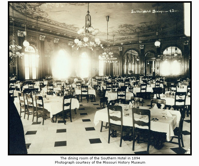 The Southern Hotel Dining Room in 1894
