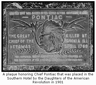 Chief Pontiac Commemorative Plaque