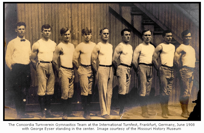 The Concordia Turnverein Gymnastics Team in 1908