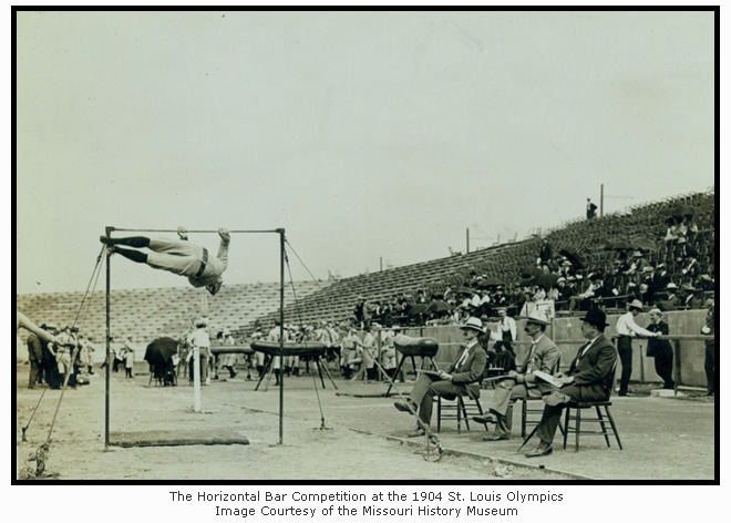 The Horizontal Bar Competition at the 1904 St. Louis Olympics