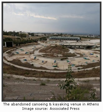 The abandoned canoeing & kayaking venue in Athens
