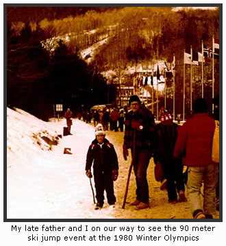 Dad & I at the 1980 Winter Olympics