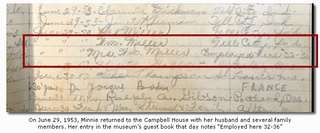 1953 Campbell House Guestbook